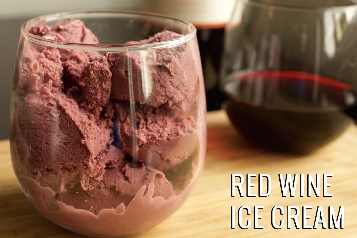 Cet été essayez la glace au vin